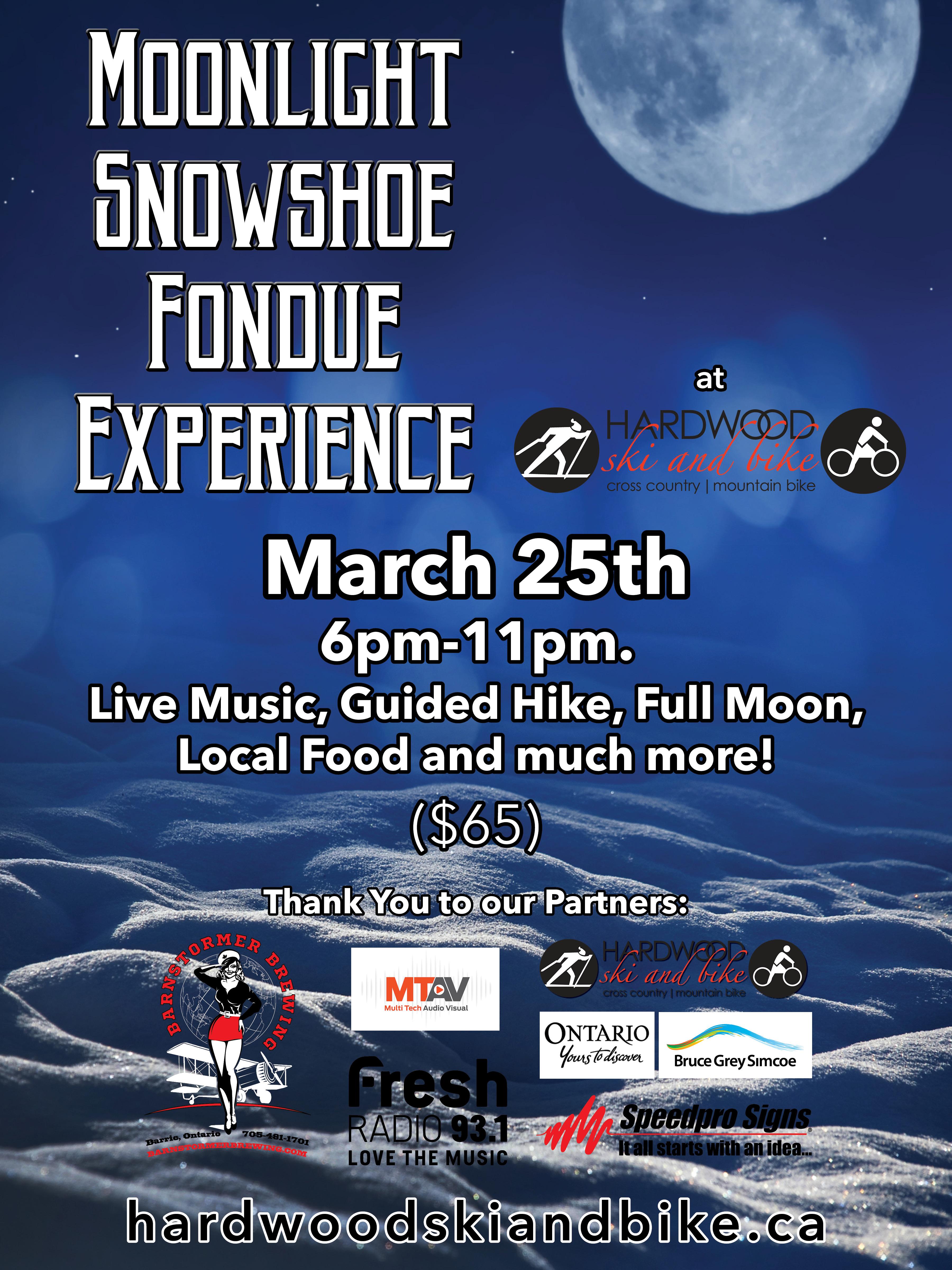 Moonlight Snowshoe Fondue Poster rev 8