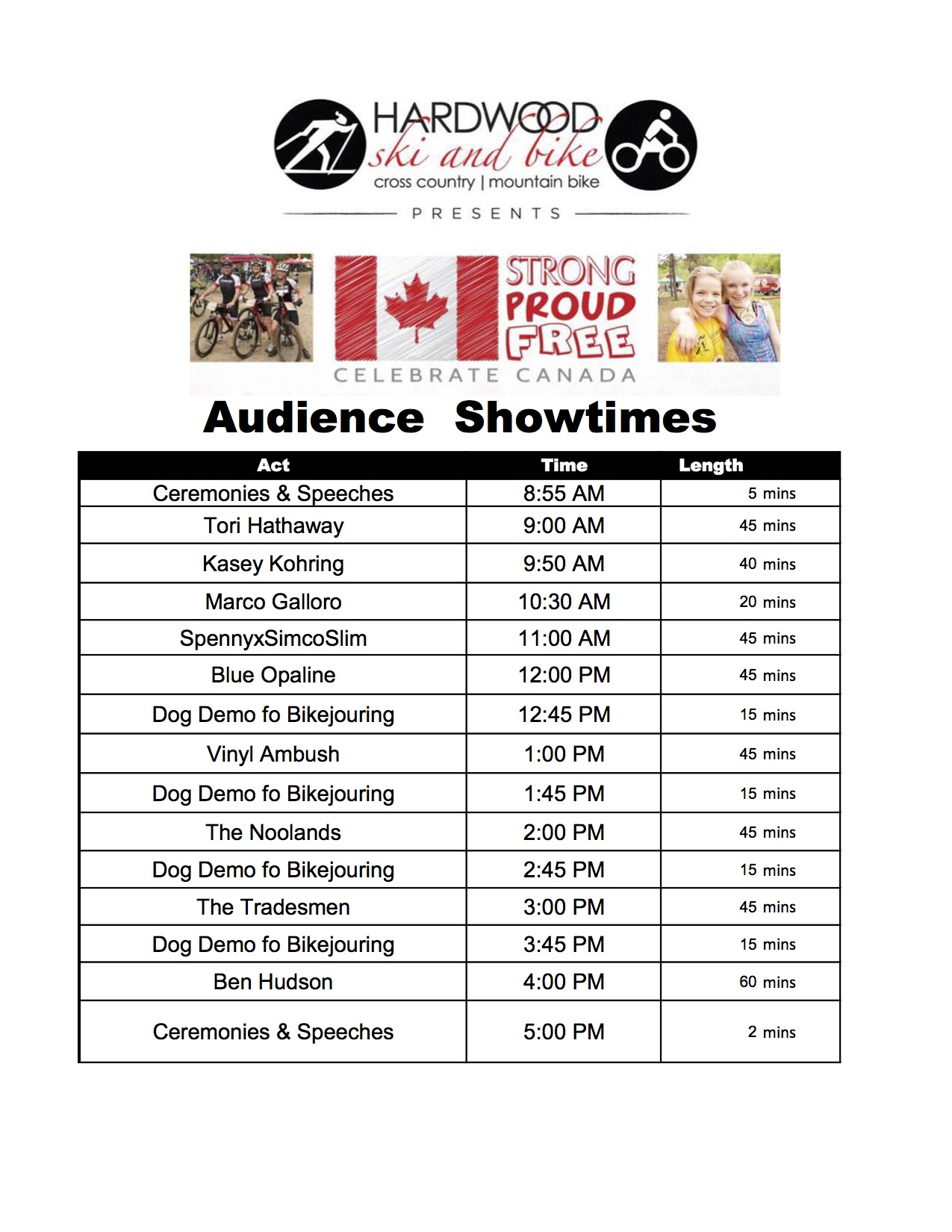 Showtimes - Strong Proud and Free