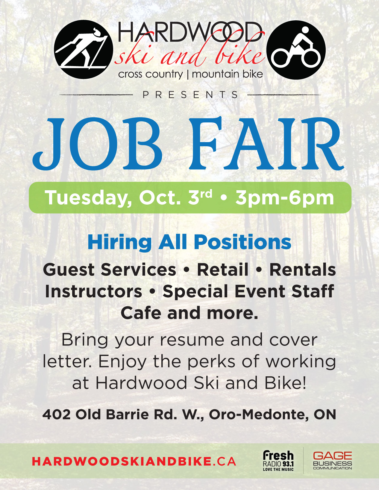Job Fair | Hardwood Ski and Bike